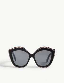 Gg0188 S Cat Eye Frame Sunglasses by Gucci