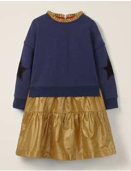 Jersey Woven Dress by Boden