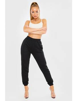 Black Straight Leg Joggers by In The Style