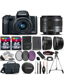 Canon Eos M50 Slr Camera + 15 45mm Stm Lens + Ultimate Accessory Bundle by Canon