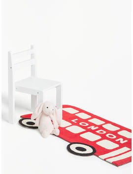 Little Home At John Lewis London Bus Rug, L100 X W65cm by Little Home At John Lewis