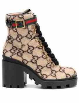 Gg Wool Ankle Boots by Gucci