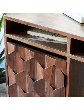 Modern Geo Wood Writing Desk by West Elm