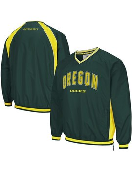 Oregon Ducks Colosseum Fair Catch Pullover Jacket   Green by Colosseum