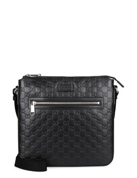 Gucci Leather Messenger Bag by Gucci