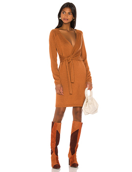 Sammy Wrap Dress In Tan by Song Of Style