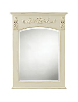 Chelsea 26 In. W X 35 In. L Framed Wall Mirror In Antique White by Home Decorators Collection