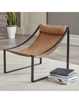 Carbon Loft Lemus Light Brown And Matte Black Sled Base Accent Chair by Carbon Loft