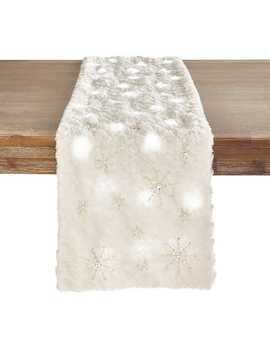 """Led Light Up Snowflake 72"""" Table Runner by Pier1 Imports"""