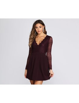 Secret Obsession Lace Skater Dress by Windsor