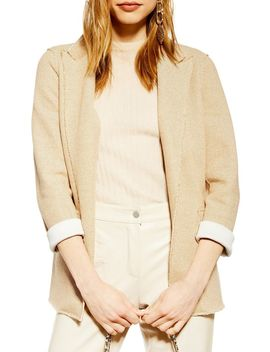 Raw Edge Boyfriend Blazer by Topshop