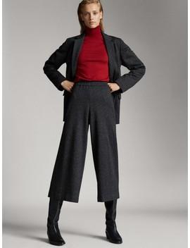 Zwarte Donegal Culotte by Massimo Dutti