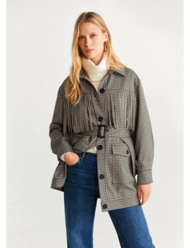 Prince Of Wales Trenchcoat by Mango