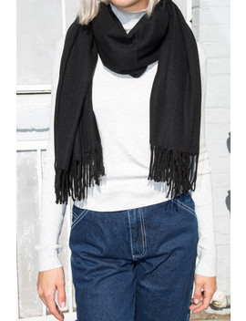 Black Grey Scarf by Brandy Melville