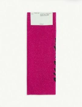 Logo Rib Knit Nylon Blend Socks by Off White C/O Virgil Abloh
