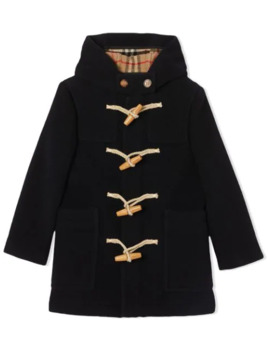 Boiled Wool Duffle Coat by Burberry Kids