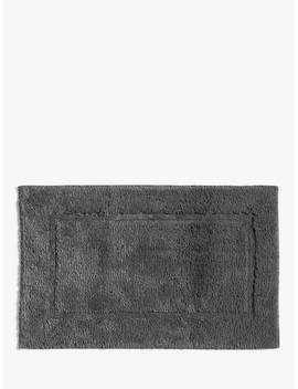 John Lewis & Partners Deep Pile Bath Mat With Microfresh Technology, 50 X 80cm, Carbon Grey by John Lewis & Partners