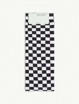 Checkerboard Print Nylon Blend Socks by Off White C/O Virgil Abloh
