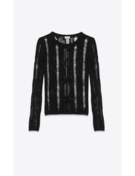 Knitted Striped Shirt In Mohair by Saint Laurent