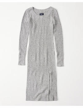 Boat Neck Midi Sweater Dress by Abercrombie & Fitch