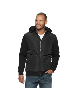 Men's Apt. 9 Mix Media Sherpa Lined Hooded Jacket by Apt. 9