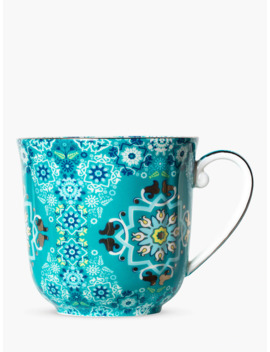 T2 Portuguese Tiles Pretty Mug, 350ml, Sea Foam by T2