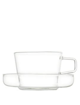 T2 Teaset Glass Cup & Saucer by T2 Tea