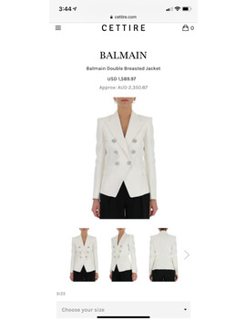 White Balmain Blazer Size Large by Kijiji