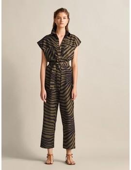Vestido Estampado Zebra Cinto by Massimo Dutti