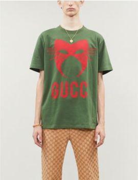 Manifesto Mask Print Cotton Jersey T Shirt by Gucci