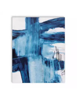 Blue Abstract Three 24 Inch X 36 Inch Canvas Wall Art by Bed Bath And Beyond