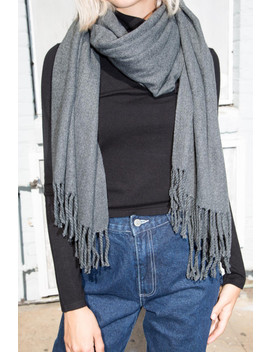 Dark Grey Scarf by Brandy Melville