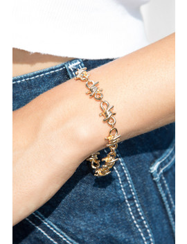 Gold Barbed Wire Bracelet by Brandy Melville