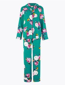 Satin Floral Print Pyjama Set by Marks & Spencer