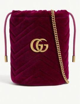 Marmont Mini Velvet Bucket Bag by Gucci