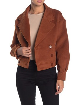 Notch Lapel Double Breasted Crop Jacket by Wild Honey