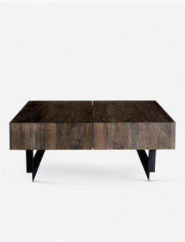 Kaidi Storage Coffee Table, Dark Brown by Lulu & Georgia
