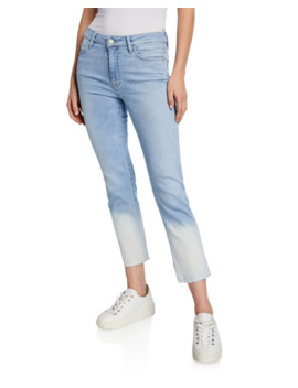 Sanctuary Modern Straight Cropped Dip Dye Jeans by Sanctuary
