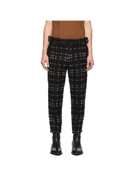 Black & Off White Bette Trousers by Ann Demeulemeester