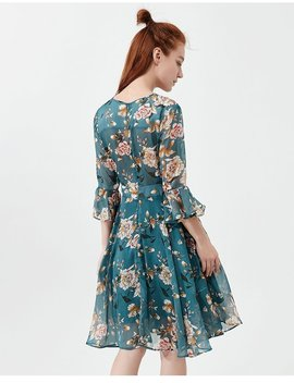 """Flowery"" Chiffon Dress by Aesthentials"
