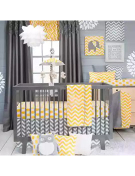 Glenna Jean Swizzle Crib Bedding Collection In Yellow by Glenna Jean