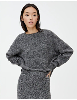 Pull Noir Chiné Maille by Pull & Bear