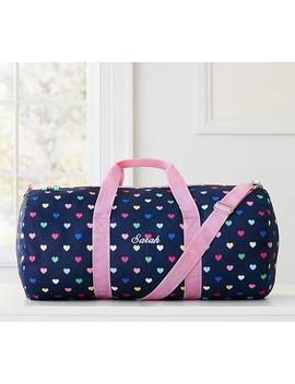 Mackenzie Navy Multi Hearts Duffle Bag by Pottery Barn Kids