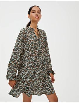 Robe Courte Imprimée à Volants by Pull & Bear