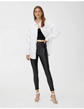 Pantalon Skinny Similicuir by Pull & Bear