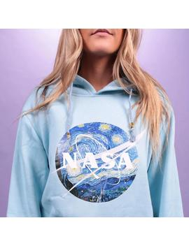 """Nasa: Starry Night"" Pastel Hoodies by Aesthentials"