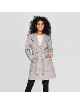 Women's Hooded Wrap Jacket   A New Day™ Gray by A New Day