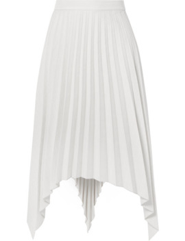Ilsie Asymmetric Pleated Wool Blend Midi Skirt by Acne Studios