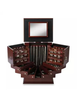 Lori Greiner® Deluxe Wood Jewelry Organizer In Walnut by Bed Bath And Beyond