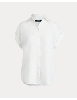 Linen Dolman Sleeve Shirt by Ralph Lauren
